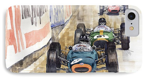 Monaco Gp 1964 Brm Brabham Ferrari IPhone Case