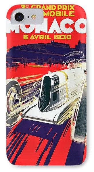 IPhone Case featuring the digital art Monaco Grand Prix 1930 by Taylan Apukovska