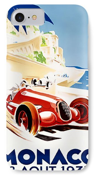 Monaco Grand Prix 1937 IPhone Case by Georgia Fowler