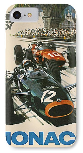 Monaco Grand Prix 1967 IPhone Case by Georgia Fowler