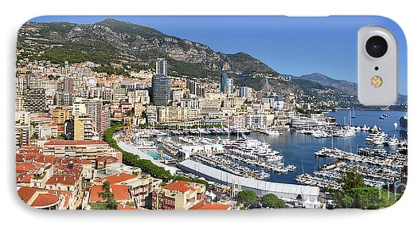 IPhone Case featuring the photograph Monaco Port Hercule Panorama by Yhun Suarez