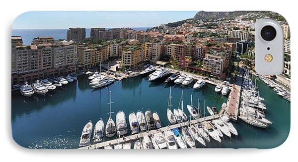 IPhone Case featuring the photograph Monaco Port De Fontvieille  by Yhun Suarez