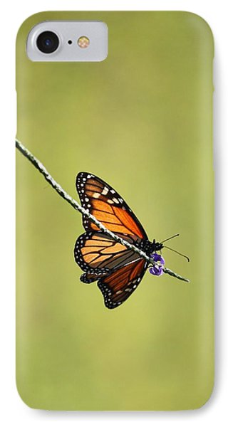 Monarch And Natural Green Canvas Phone Case by Carol Groenen