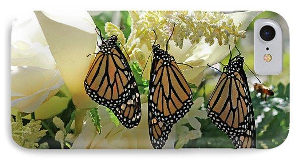 Monarch Butterfly Garden  IPhone Case by Luana K Perez