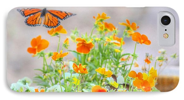 Monarch Butterfly In The Flowers IPhone Case