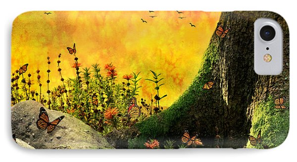 Monarch Meadow IPhone Case
