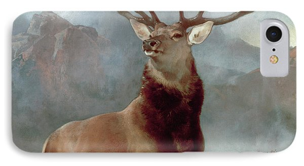 Monarch Of The Glen IPhone Case by Sir Edwin Landseer