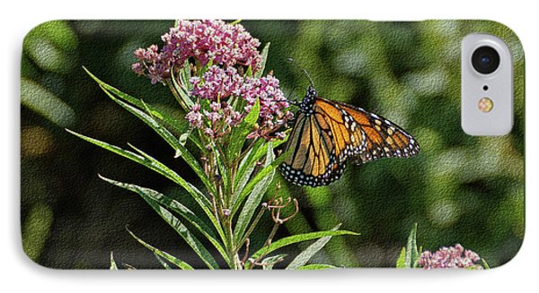 IPhone Case featuring the photograph Monarch On Milkweed by Sandy Keeton