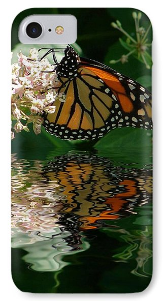 Monarch Reflection IPhone Case by Rick Friedle