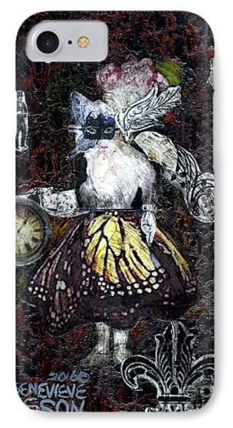 Monarch Steampunk Goddess IPhone Case by Genevieve Esson