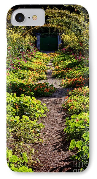 Monet Garden Path  IPhone Case by Olivier Le Queinec