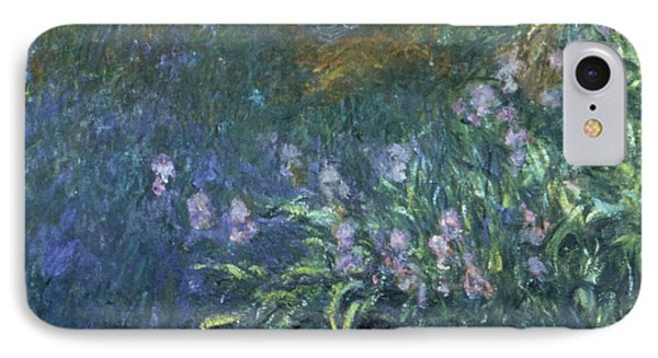 Monet: Irises By The Pond Phone Case by Granger