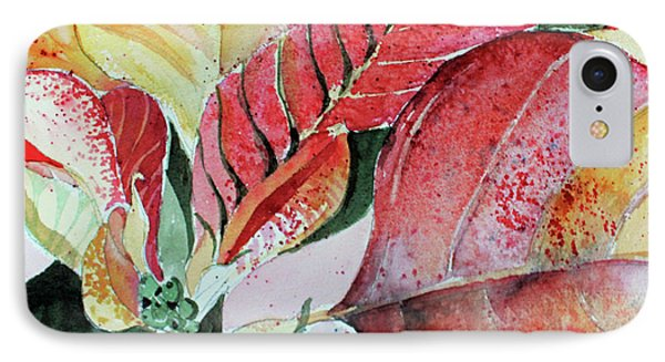 Monet Poinsettia IPhone Case by Mindy Newman