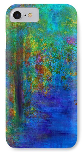 IPhone 7 Case featuring the painting Monet Woods by Claire Bull