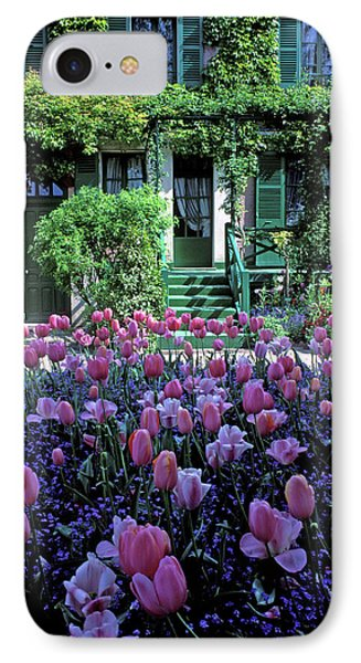 Monet's House With Tulips Phone Case by Kathy Yates