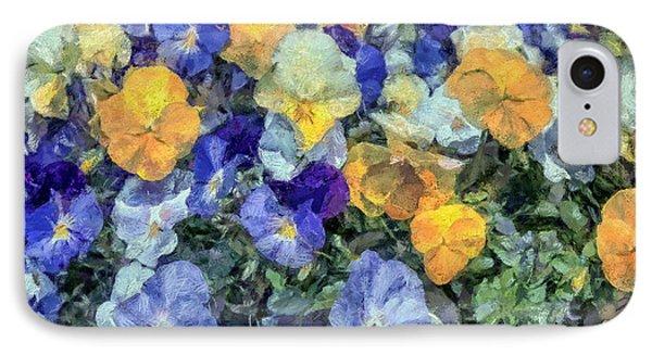 Monet's Pansies IPhone Case