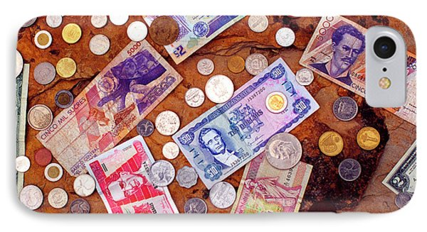 Money From Around The World Phone Case by Thomas R Fletcher