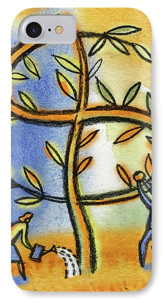 IPhone Case featuring the painting Money Tree by Leon Zernitsky