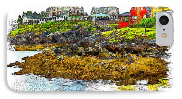 IPhone Case featuring the photograph Monhegan West Shore by Tom Cameron