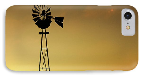 Monitor Silhouette IPhone Case by Todd Klassy