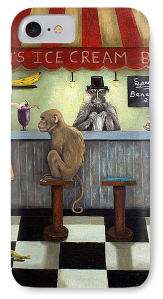 Monkey Business Phone Case by Leah Saulnier The Painting Maniac
