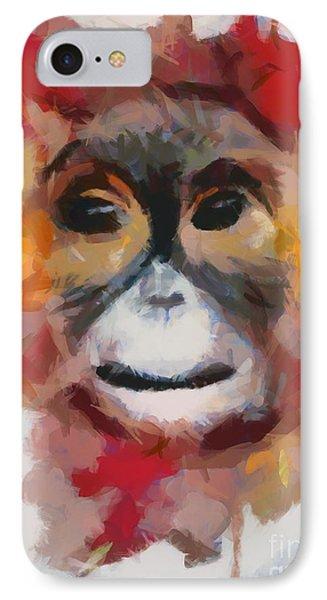Monkey Splat IPhone Case by Catherine Lott