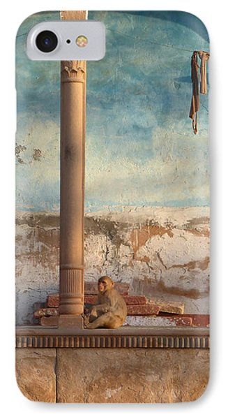 IPhone Case featuring the photograph Monkeys At Sunset by Jean luc Comperat