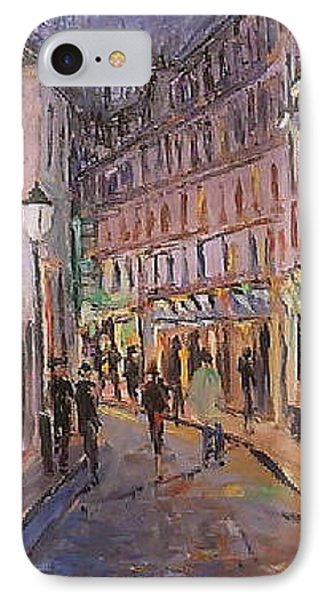 IPhone Case featuring the painting Monmartre by Walter Casaravilla