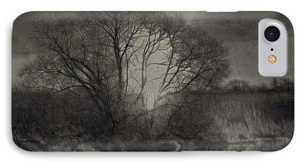 Monochrome Artistic Creek Tree IPhone Case by Leif Sohlman