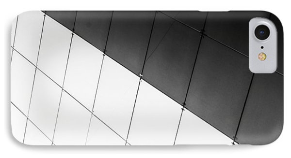 Monochrome Building Abstract 3 IPhone Case by John Williams