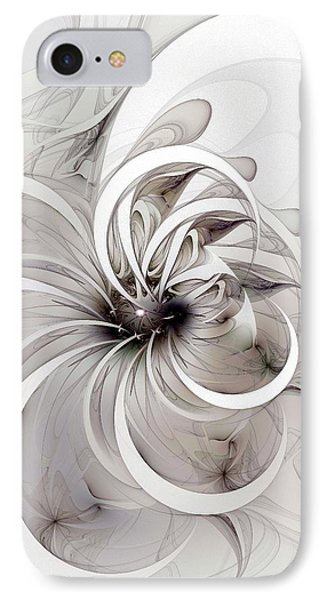 Monochrome Flower Phone Case by Amanda Moore