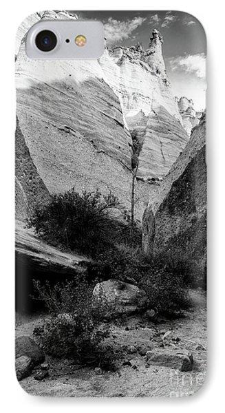 Monochrome Image Of Slot Canyon At Tent Rocks Kasha Katuwe - Jemez Mountains New Mexico IPhone Case