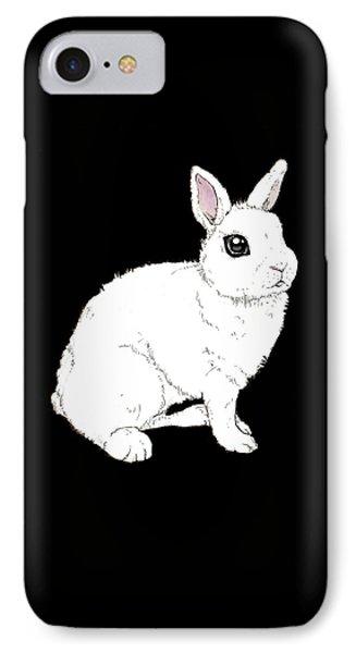 Monochrome Rabbit IPhone 7 Case by Katrina Davis