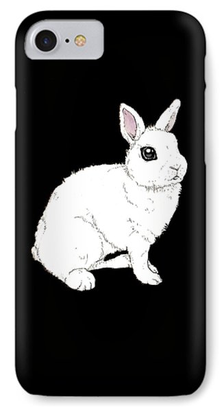 Monochrome Rabbit IPhone Case by Katrina Davis