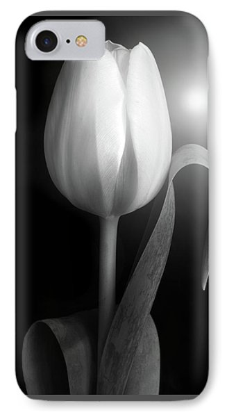 IPhone Case featuring the photograph Monochrome Tulip Portrait by Terence Davis