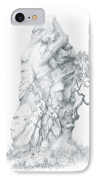 IPhone Case featuring the drawing Monolith 2 by Curtiss Shaffer