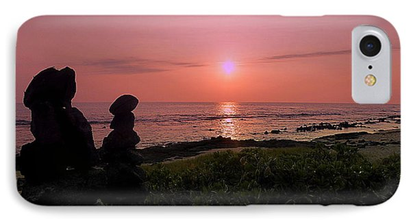 IPhone Case featuring the photograph Monoliths At Sunset by Lori Seaman