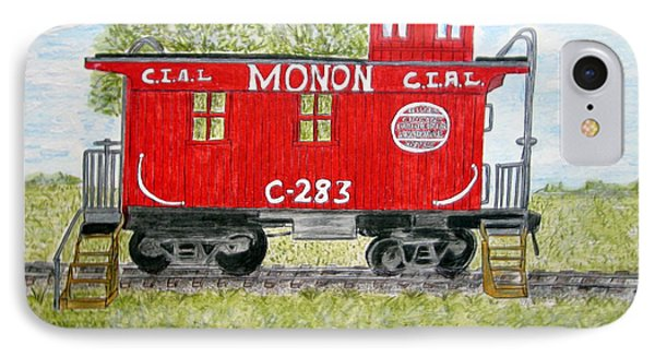 Monon Wood Caboose Train C 283 1950s IPhone Case