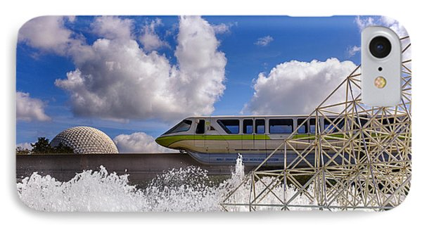 Monorail And Spaceship Earth IPhone Case