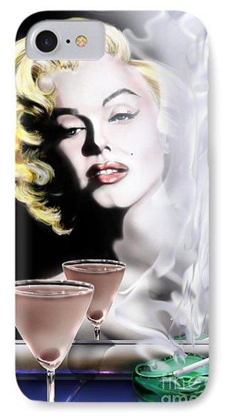 Monroe-seeing Beyond Smoke-n-mirrors Phone Case by Reggie Duffie