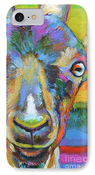IPhone Case featuring the painting Monsieur Goat by Robert Phelps