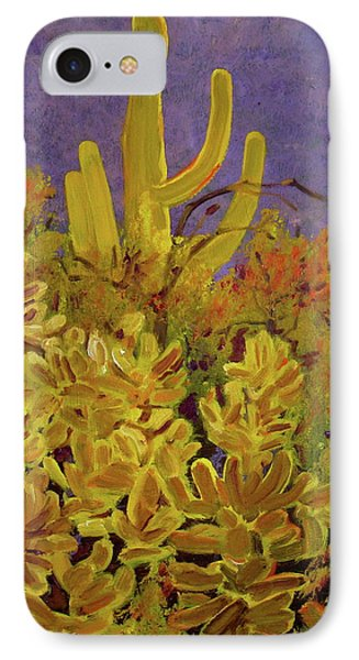 IPhone Case featuring the painting Monsoon Glow by Julie Todd-Cundiff
