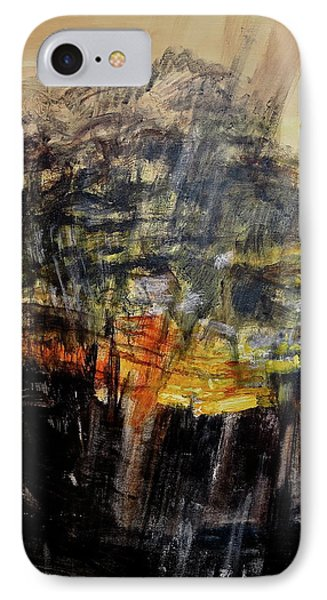 Monsoon Light Triptych - Right Panel IPhone Case by Bonnie See