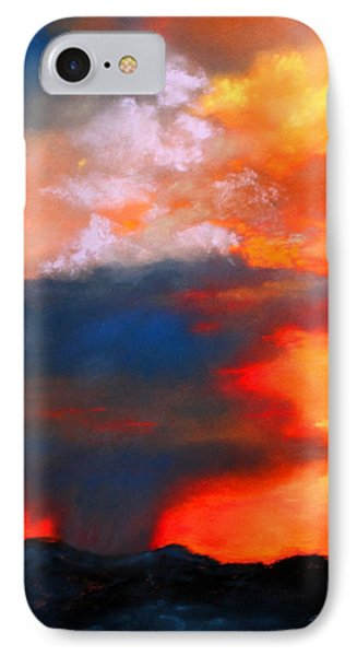 Monsoon Shower IPhone Case by M Diane Bonaparte
