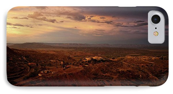 IPhone Case featuring the photograph Monsoon Storm Afterglow by Ron Chilston