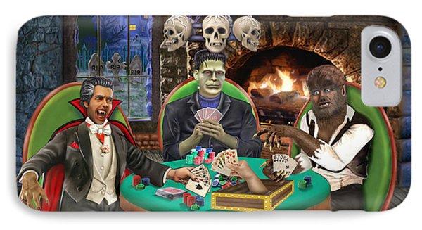 Monster Poker Phone Case by Glenn Holbrook