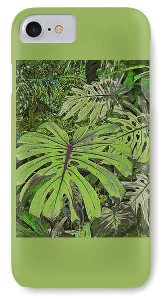 Monstera Leaves - Soft Greens IPhone Case