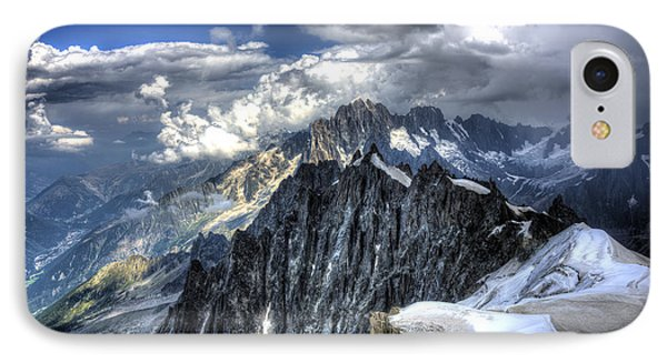 IPhone Case featuring the photograph Mont Blanc Near Chamonix In French Alps by Shawn Everhart