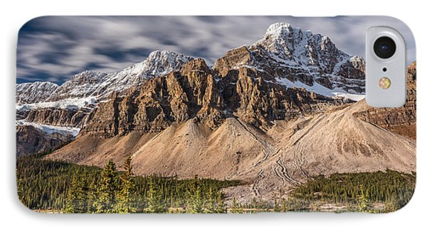 IPhone Case featuring the photograph Mont Crowfoot On The Icefield Parkway by Pierre Leclerc Photography