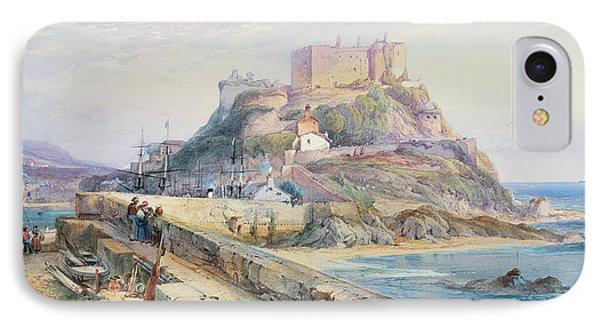 Mont Orgueil Castle IPhone Case by Richard Principal Leitch